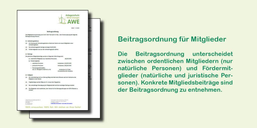 Beitragsordnung des AWE