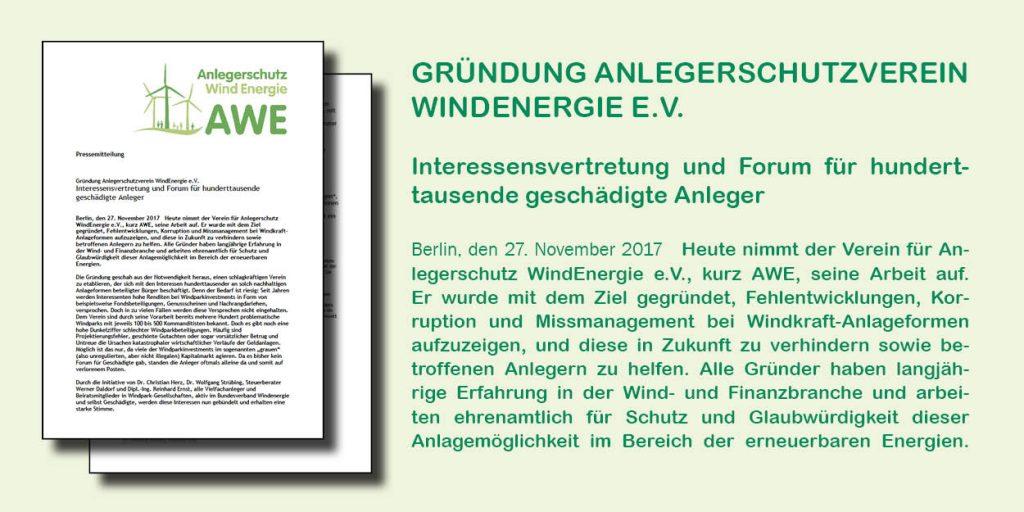 Pressemitteilung zur Gründung des AWE